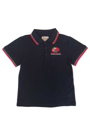 Masterton Intermediate School Polo Navy/Red/White